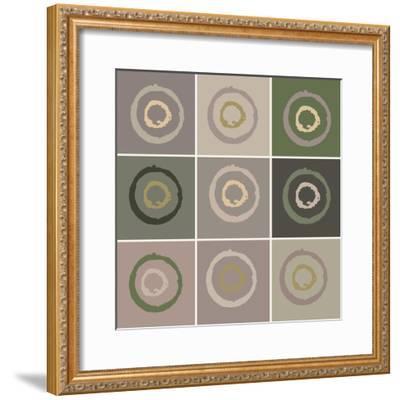 Nine Patch Circles In Circles-Ricki Mountain-Framed Art Print