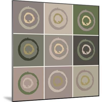 Nine Patch Circles In Circles-Ricki Mountain-Mounted Art Print
