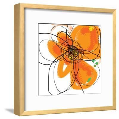 Orange Petals 2-Jan Weiss-Framed Art Print