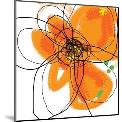 Orange Petals 2-Jan Weiss-Mounted Art Print