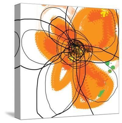 Orange Petals 2-Jan Weiss-Stretched Canvas Print