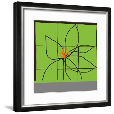Atomic Floral One-Jan Weiss-Framed Art Print