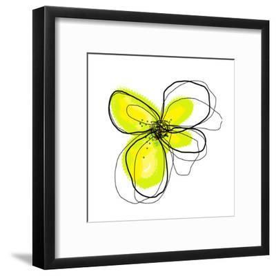 Yellow Petals 4-Jan Weiss-Framed Art Print