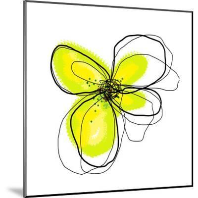 Yellow Petals 4-Jan Weiss-Mounted Art Print