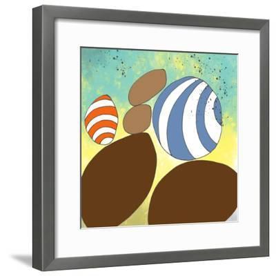 retro rocks Three-Jan Weiss-Framed Art Print