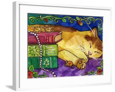 Sleeping Tabby Cat-sylvia pimental-Framed Art Print