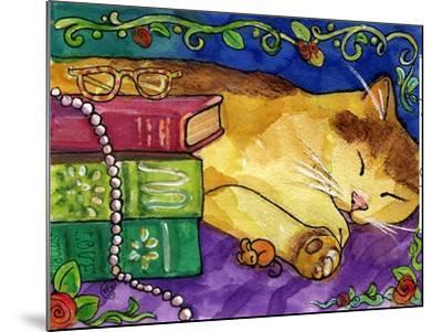 Sleeping Tabby Cat-sylvia pimental-Mounted Art Print