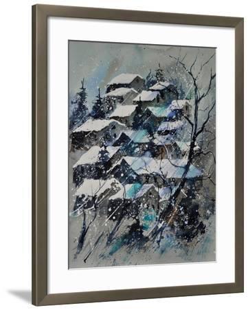 Watercolor 4121132 Snow Landscape-Pol Ledent-Framed Art Print