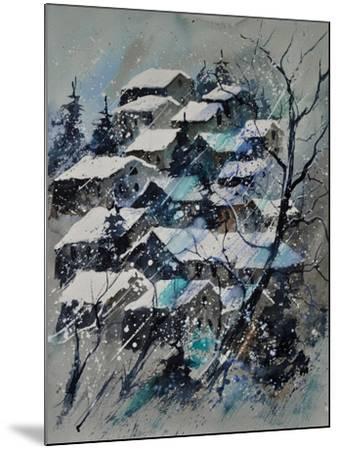 Watercolor 4121132 Snow Landscape-Pol Ledent-Mounted Art Print