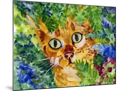 Hiding Tabby Cat-sylvia pimental-Mounted Art Print