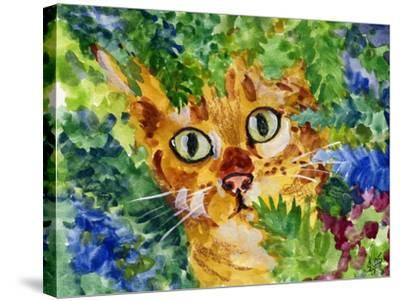 Hiding Tabby Cat-sylvia pimental-Stretched Canvas Print