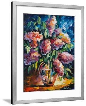 Flowers-Leonid Afremov-Framed Art Print