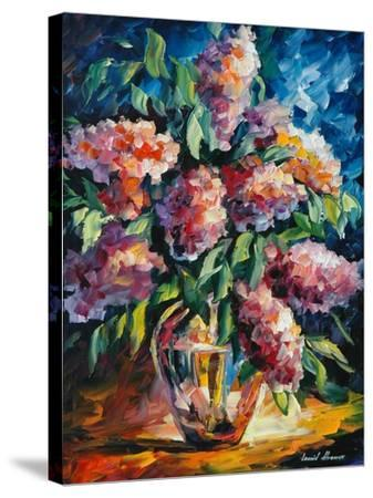 Flowers-Leonid Afremov-Stretched Canvas Print