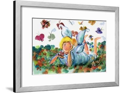 BUTTERFLY FAIRY-sylvia pimental-Framed Art Print