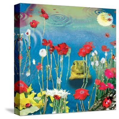 Frog And Ladybugs-Nancy Tillman-Stretched Canvas Print