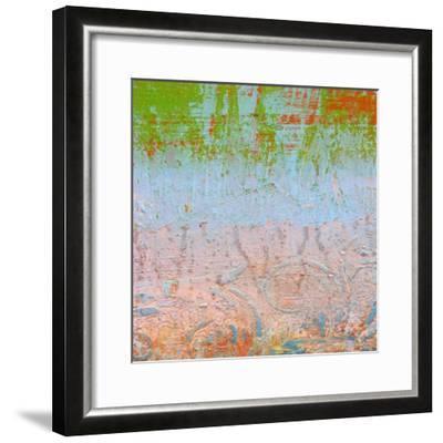 Rainbow Sherbet Abstract-Ricki Mountain-Framed Art Print