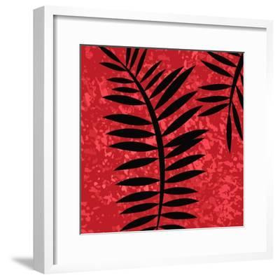 Red Sponge Fern II-Ruth Palmer-Framed Art Print