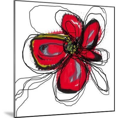 Red Butterfly Flower-Jan Weiss-Mounted Art Print