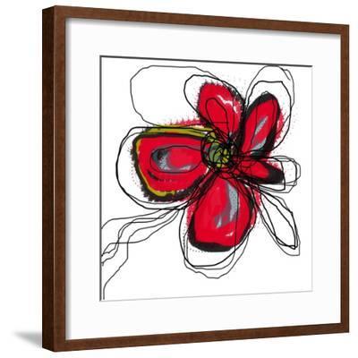 Red Butterfly Flower-Jan Weiss-Framed Art Print