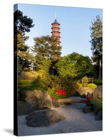 Kew Gardens Pagoda-Charles Bowman-Stretched Canvas Print