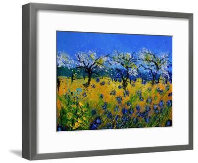 Blue Cornflowers 545130-Pol Ledent-Framed Premium Giclee Print