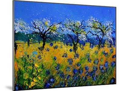 Blue Cornflowers 545130-Pol Ledent-Mounted Premium Giclee Print