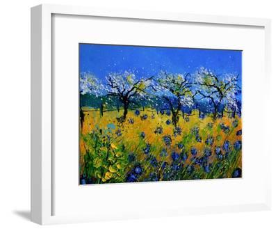 Blue Cornflowers 545130-Pol Ledent-Framed Art Print