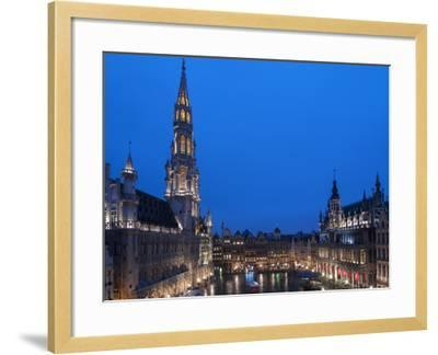 Brussels Grand Place 2-Charles Bowman-Framed Photographic Print
