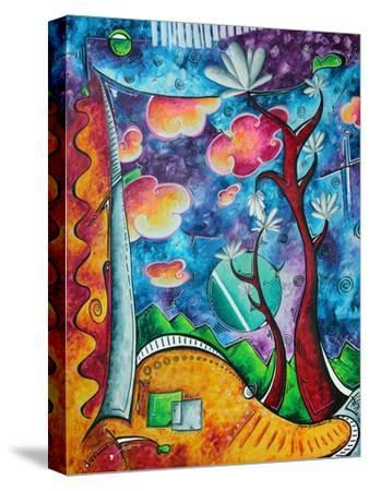 Abstract Colorful Landscape PoP Art-Megan Aroon Duncanson-Stretched Canvas Print