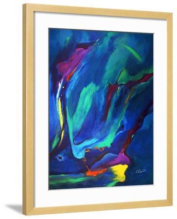 Deep Blue Thoughts-Ruth Palmer-Framed Art Print