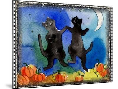 Dancing Black Cats Halloween-sylvia pimental-Mounted Art Print