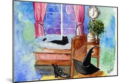 Halloween cat witch hat potions-sylvia pimental-Mounted Art Print