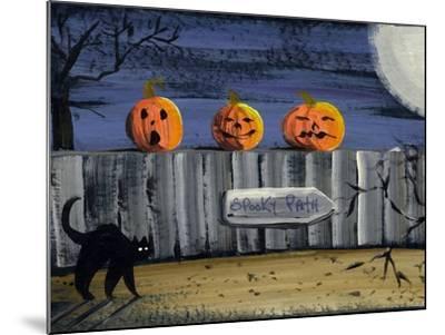 Spooky Path Jack O Lantern Pumpkins-sylvia pimental-Mounted Art Print