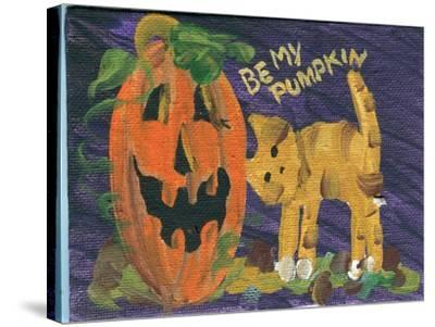 Be My Pumpkin Halloween-sylvia pimental-Stretched Canvas Print