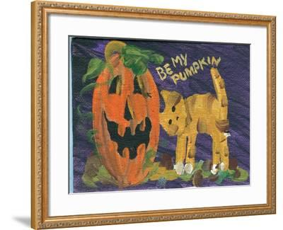 Be My Pumpkin Halloween-sylvia pimental-Framed Art Print