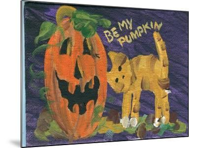 Be My Pumpkin Halloween-sylvia pimental-Mounted Art Print