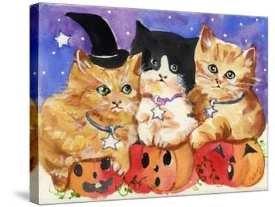 Halloween Kittens & Pumpkins-sylvia pimental-Stretched Canvas Print