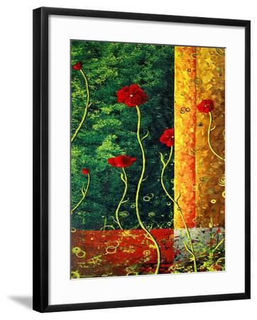 Poppy Madness-Megan Aroon Duncanson-Framed Art Print