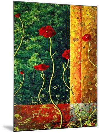 Poppy Madness-Megan Aroon Duncanson-Mounted Art Print