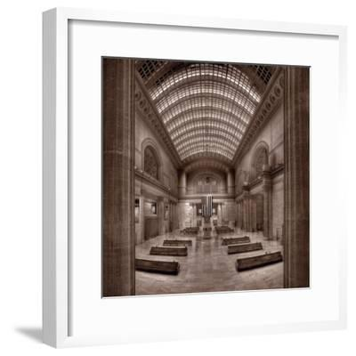 Chicagos Union Station BW-Steve Gadomski-Framed Photographic Print