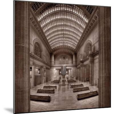 Chicagos Union Station BW-Steve Gadomski-Mounted Photographic Print