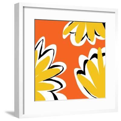 Oh So Pretty - Orange 2-Jan Weiss-Framed Art Print