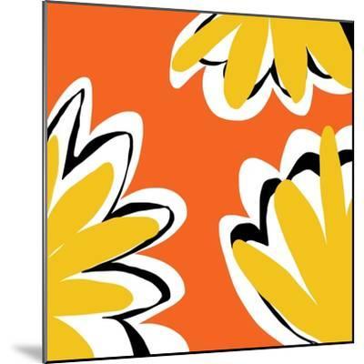 Oh So Pretty - Orange 2-Jan Weiss-Mounted Art Print