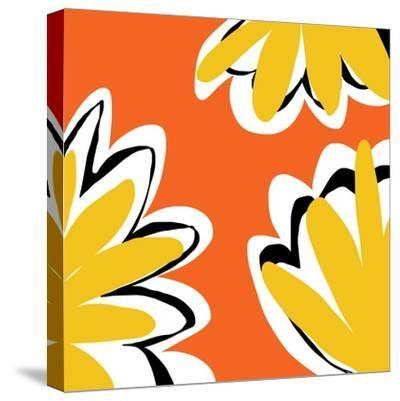 Oh So Pretty - Orange 2-Jan Weiss-Stretched Canvas Print