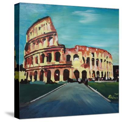 Monumental Coliseum in Rome Italy-Markus Bleichner-Stretched Canvas Print
