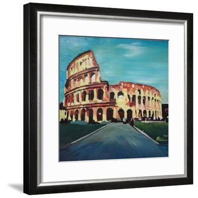 Monumental Coliseum in Rome Italy-Markus Bleichner-Framed Art Print