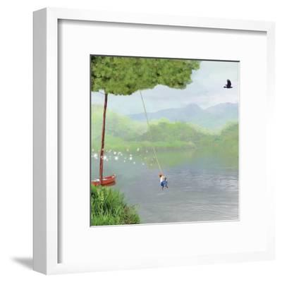 Tree Swing-Nancy Tillman-Framed Art Print