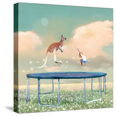 Jumping With Kangaroo-Nancy Tillman-Stretched Canvas Print
