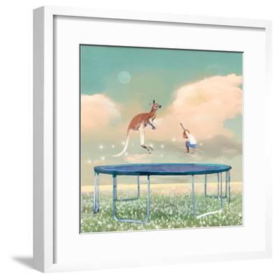 Jumping With Kangaroo-Nancy Tillman-Framed Premium Giclee Print