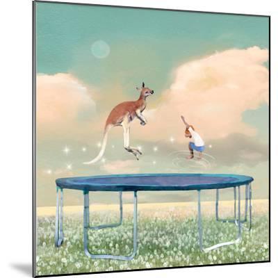 Jumping With Kangaroo-Nancy Tillman-Mounted Premium Giclee Print